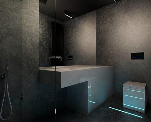 Projekt grafitowej łazienki - Concept