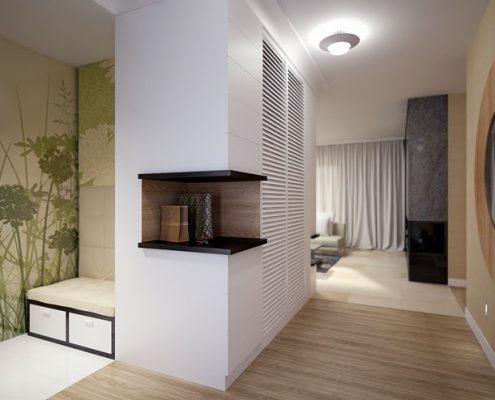 Projekt przedpokoju w domu jednorodzinnym - Concept Architektura Wnętrz