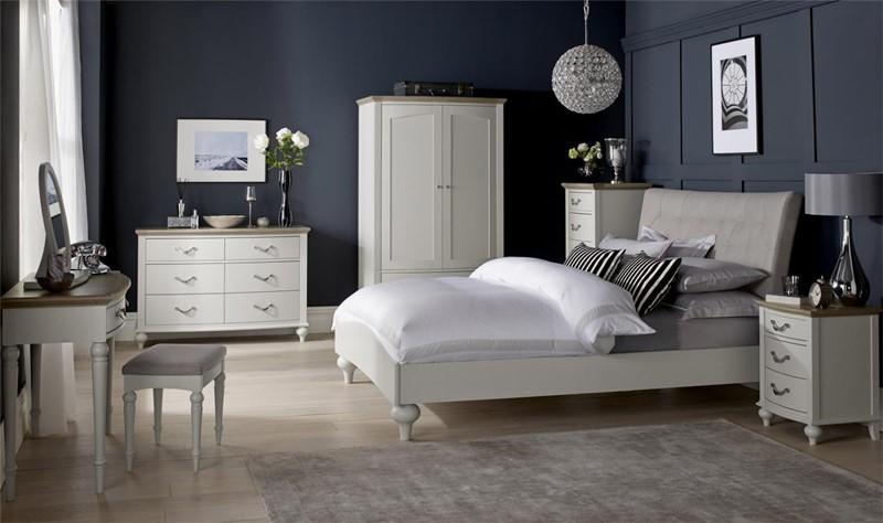Białe meble do sypialni łóżko w sypialni - Patiomeble
