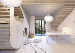 Biały pokój dziecięcy - królicza norka - Concept Arcgitektura