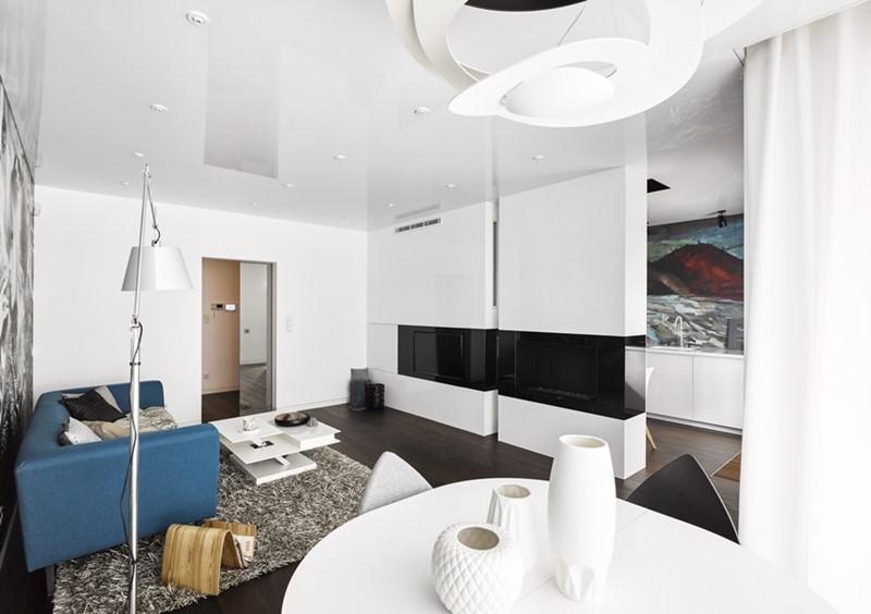 Czarno-białe wnętrza - apartament