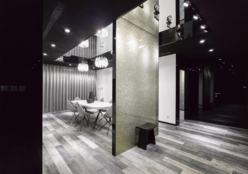 Czarno-białe wnętrza - hol