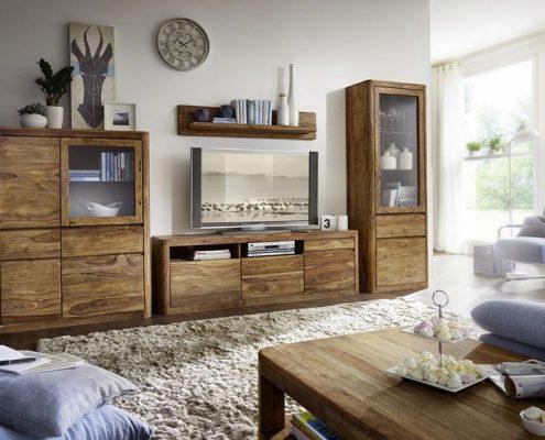Drewniane meble do nowoczesnego salonu - Patiomeble