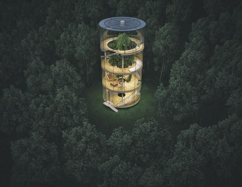 Drzewo w domu - Aibeka Almassova