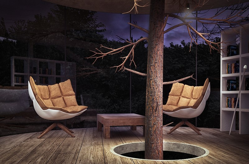 Duże drzewo w domu - Aibeka Almassova