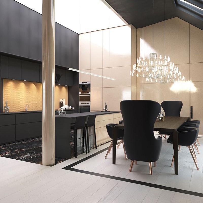 Ekskluzywna kuchnia z jadalnią - Concept Architektura