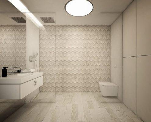 Jasna, minimalistyczna łazienka - Concept Architektura