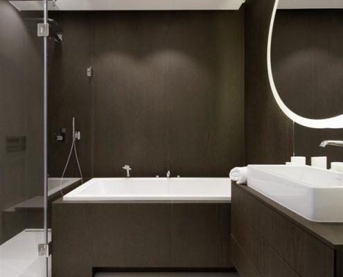 Meble łazienkowe w odcieniu gorzkiej czekolady - Hola Design