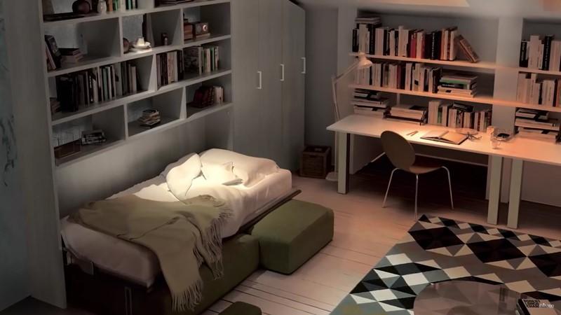 Meble oszczędzające miejsce łóżko jednoosobowe