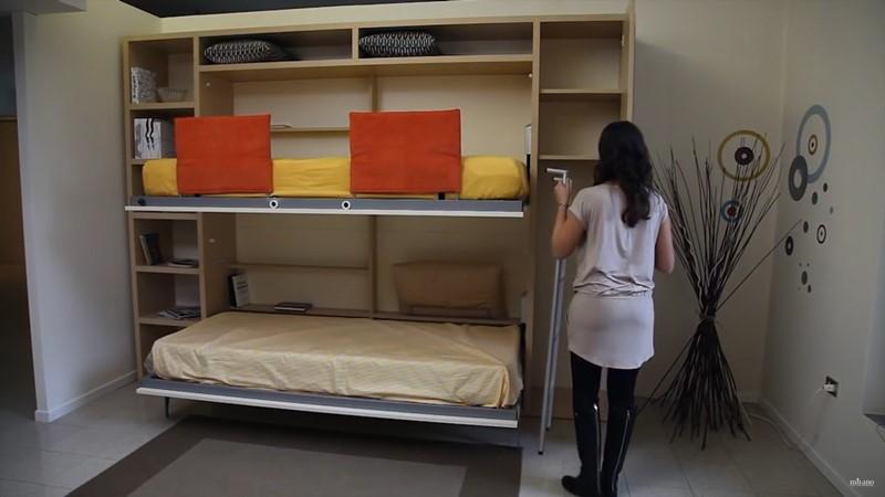 Meble oszczędzające miejsce łóżko piętrowe