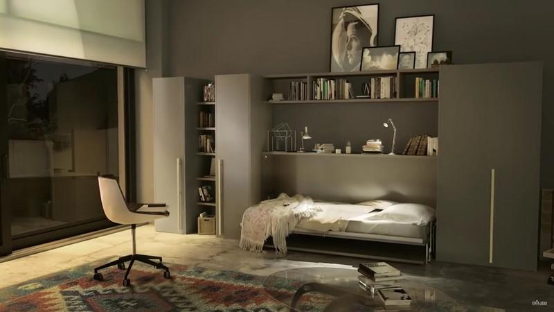 Meble oszczędzające miejsce biurko łóżko