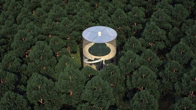 Nowoczesny dom w lesie - Aibeka Almassova
