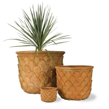 Dekoracyjna donica terakota ogrodowa Pineapple