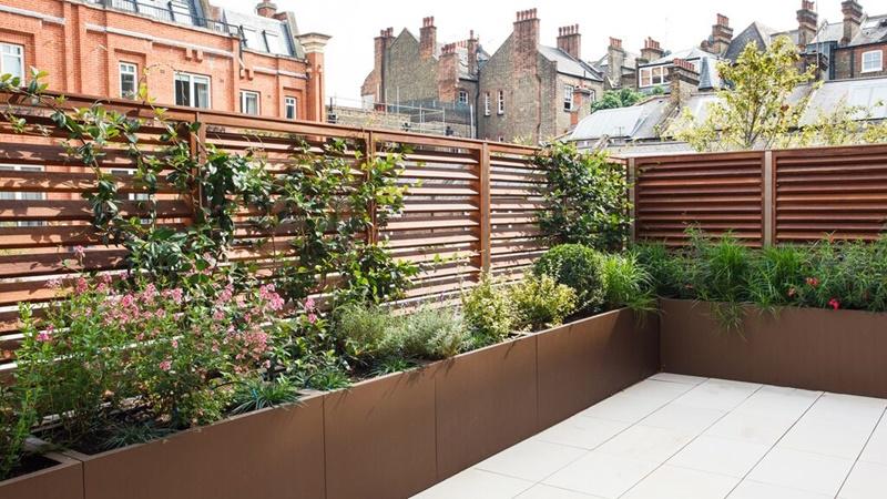 Wooden Balcony Planter Boxes