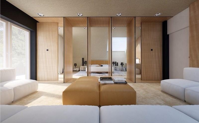 Ruchome ściany sypialnia salon
