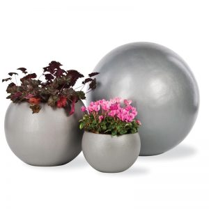 Okrągła donica do ogrodu Geo Sphere