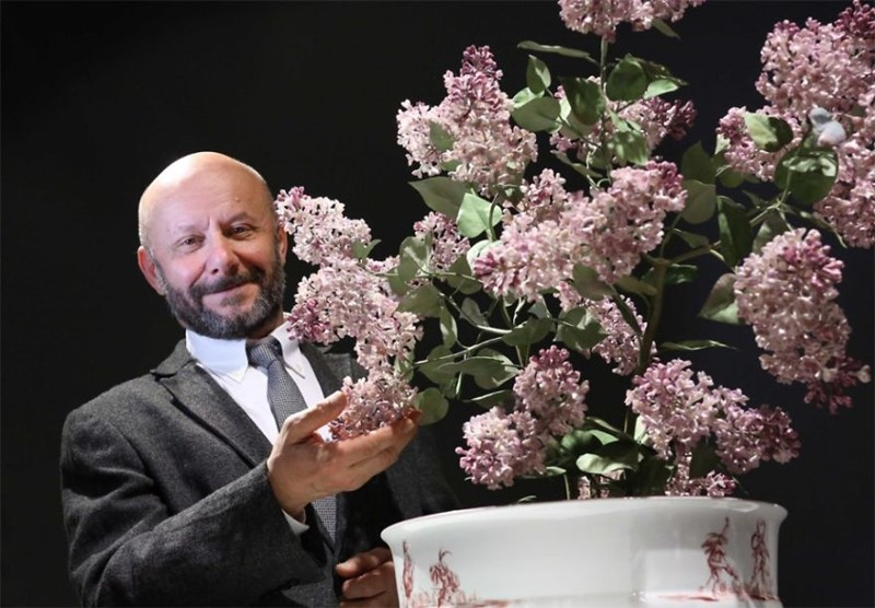 Vladimir Kanevsky porcelanowe kwiaty Vladimir Kanevsky