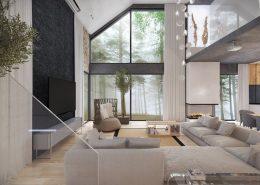 Wnętrze nowoczesnej rezydencji - Concept Architektura