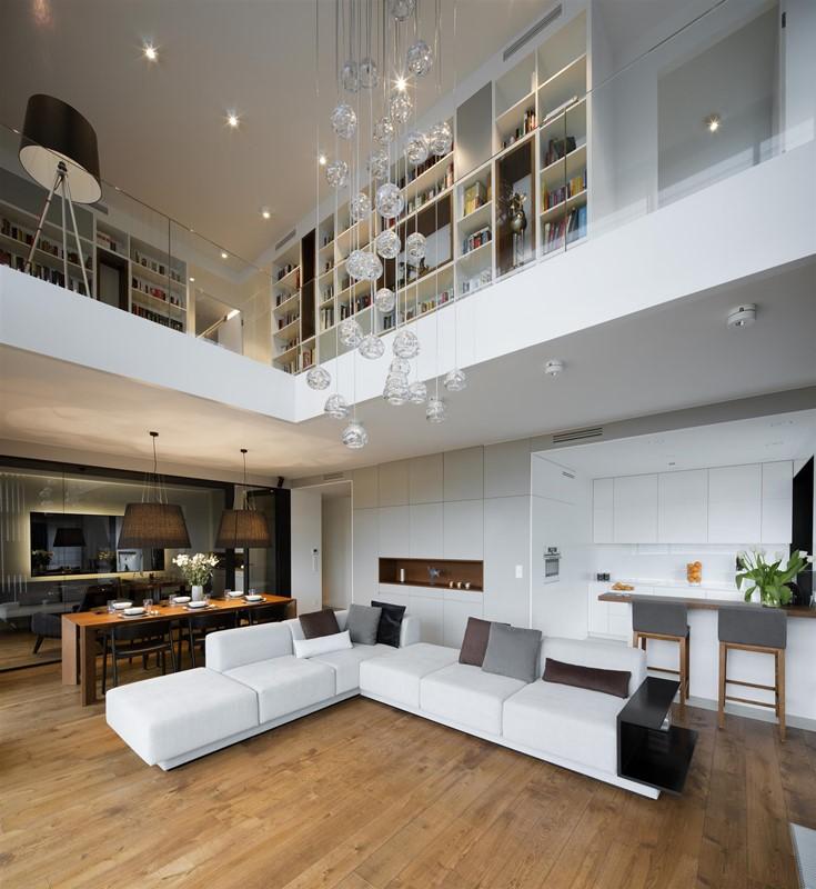 Wysoki Salon Z Jadalnią I Kuchnią Homesquare