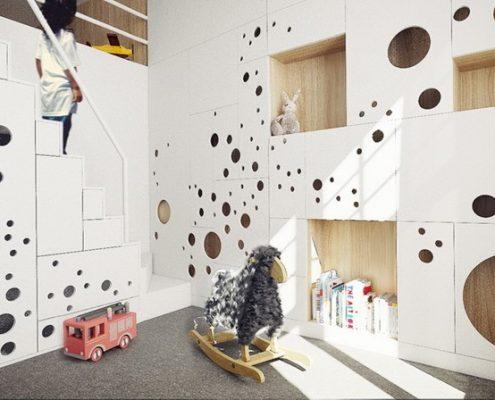 Aranżacja pokoju dziecięcego w bieli- MUS Architects