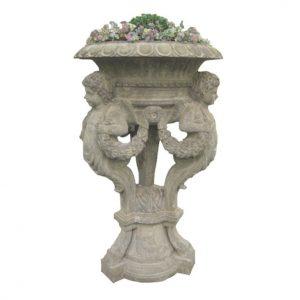 Duża, kamienna waza ogrodowa - styl klasyczny