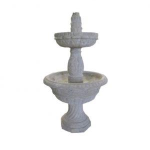 Dwupoziomowa fontanna antyczna, ogrodowa