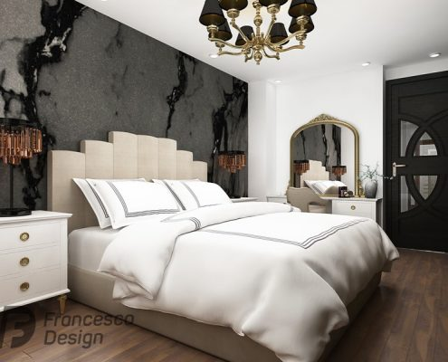 Elegancka sypialnia w stylu art deco - Francesco Design