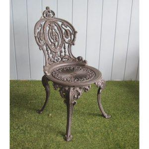 Eleganckie krzesło ogrodowe z metalu