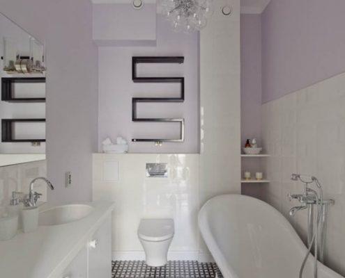 Jasna łazienka w stylu retro - Loft Factory
