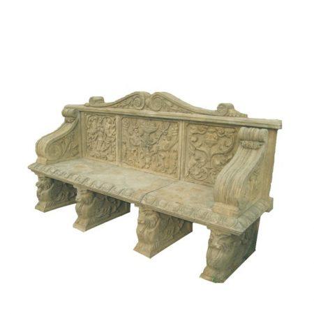 Kamienna ławka dekoracyjna do ogrodu