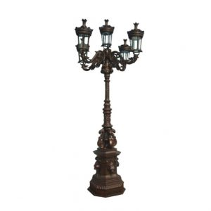 Klasyczna lampa uliczna z żeliwa