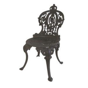 Klasyczne żeliwne krzesło ogrodowe S2