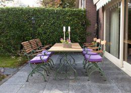 Klasyczne meble ogrodowe z metalu i drewna - Livingstone Terrasso