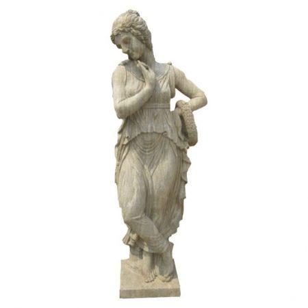 Klasyczny posąg kobiety z kamienia