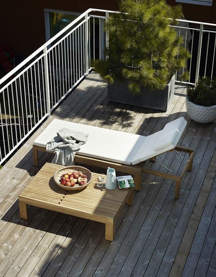 Leżanki ogrodowe z drewna tekowego - Skagerak
