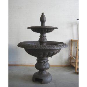 Metalowa fontanna ogrodowa dwupoziomowa