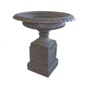 Metalowa waza donica ogrodowa z podstawą G009