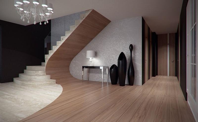 Oryginalne schody drewno