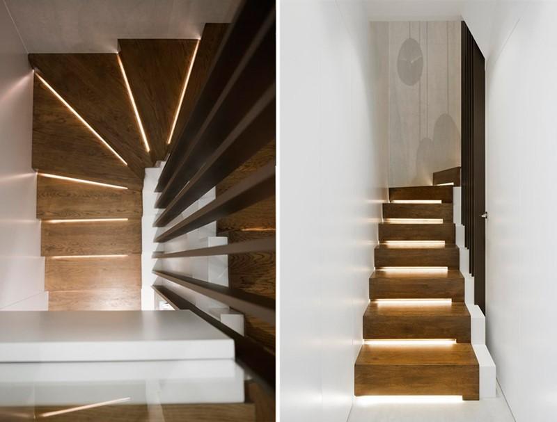 Oryginalne schody podświetlane