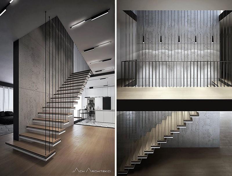 Oryginalne schody podwieszane