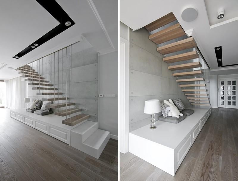 Oryginalne schody przyścienne