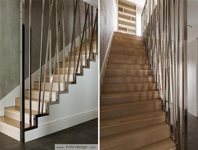 Oryginalne schody z przepierzeniem