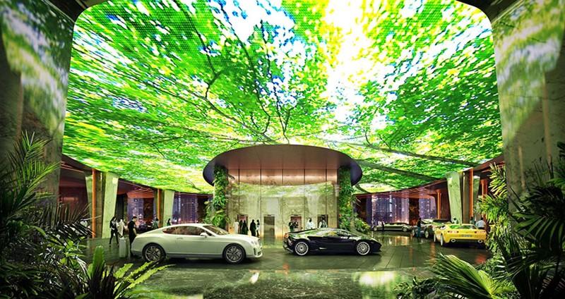 Oryginalny hotel z lasem deszczowym