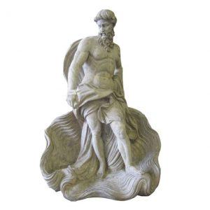 Ręcznie rzeźbiony posąg Posejdona