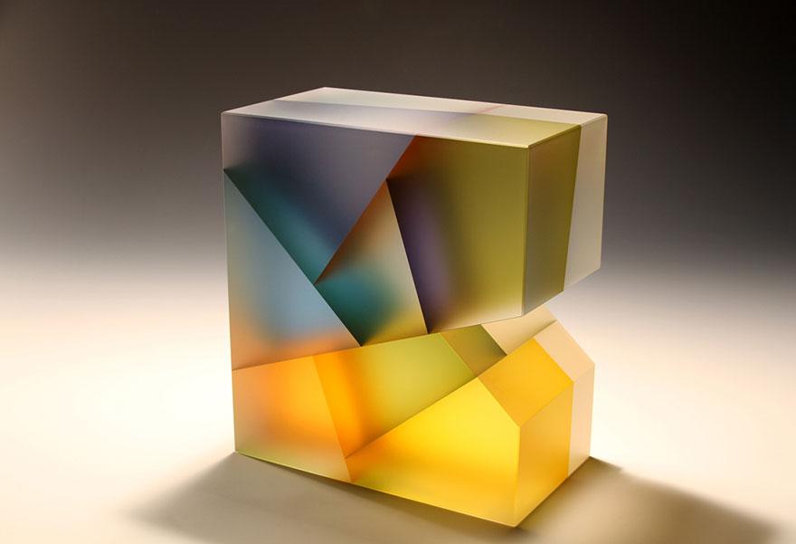 Szklane rzeźby nowoczesne - Jiyong Lee