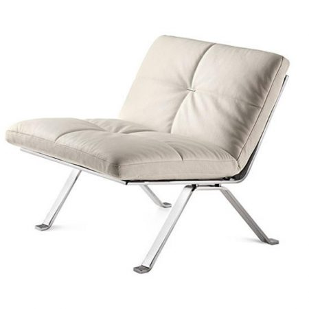 Fotel skórzany chrom BROOKLYN Poltrona Frau
