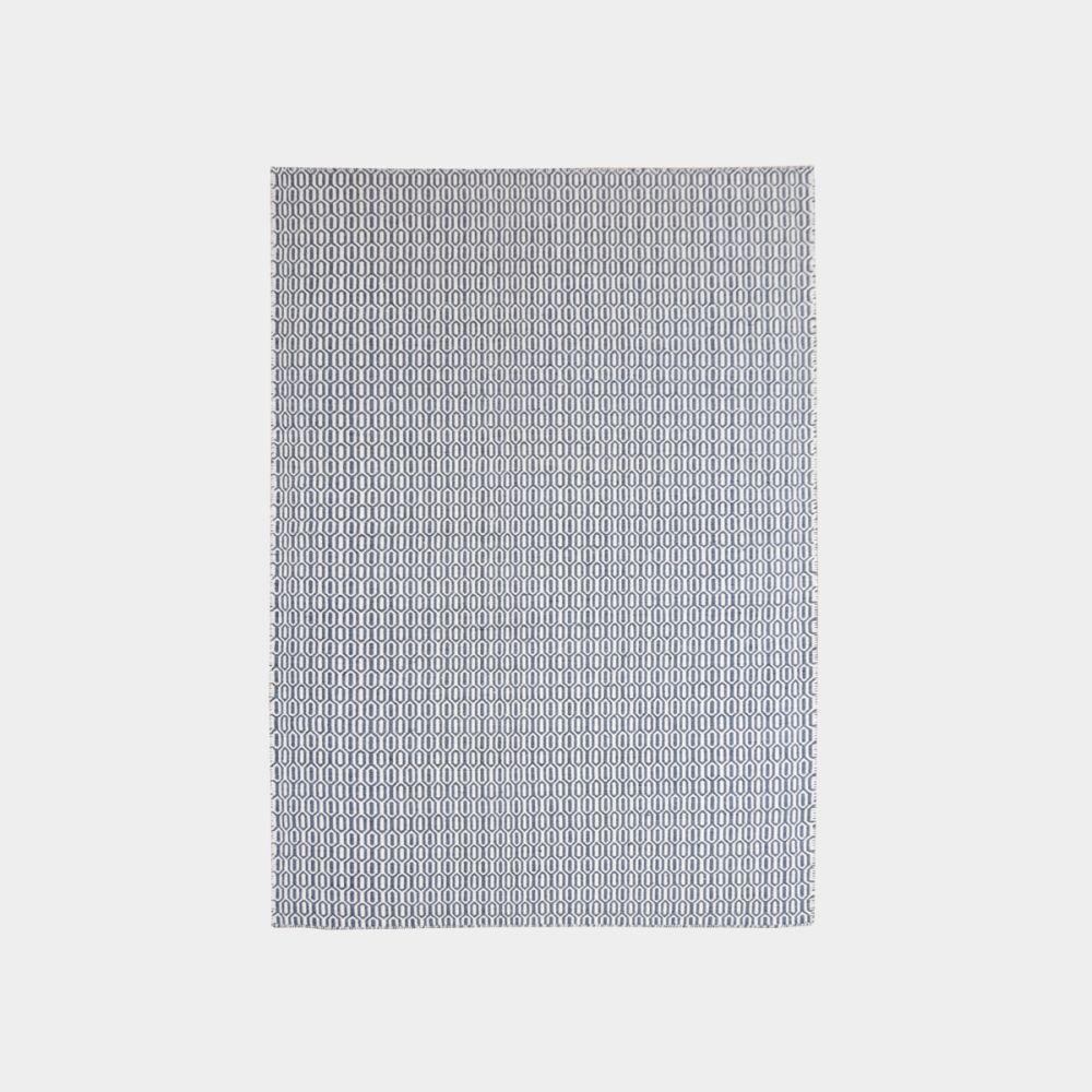 Biało-grafitowy dywan Padlock Graphite