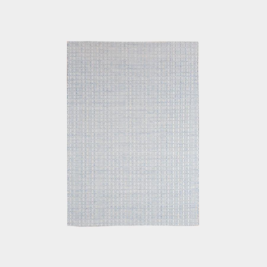 Biało-niebieski dywan Padlock Blue