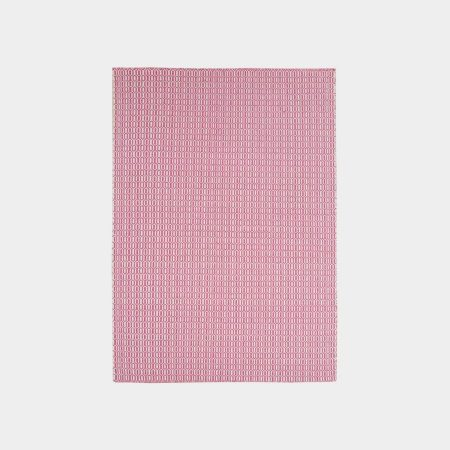 Biało-różowy dywan Padlock Pink