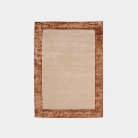Brązowy dywan Bordered Rug Gold